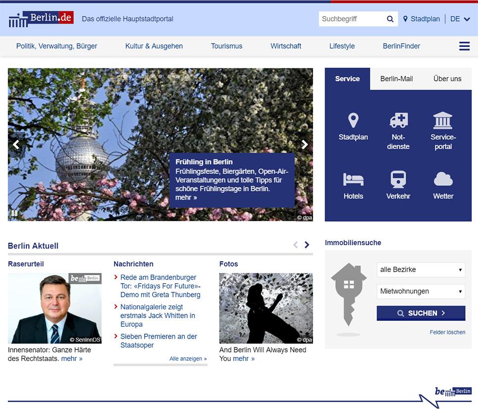 berlin.de - das offizielle Hauptstadtportal